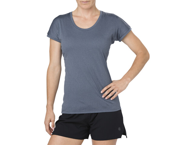 asics Capsleeve Top Femme, dark blue heather